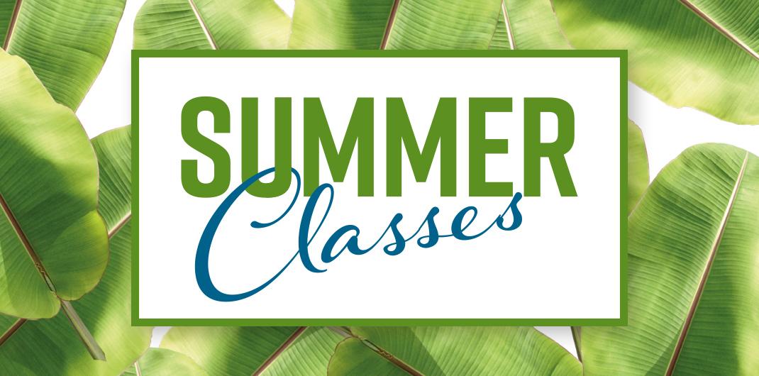 Summer Classes 2018 Banner